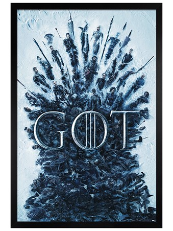 Black Wooden Framed Throne Of The Dead - Game Of Thrones