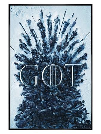 Gloss Black Framed Throne Of The Dead - Game Of Thrones