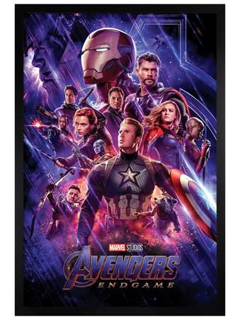 Black Wooden Framed Journey's End, Avengers: Endgame