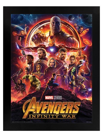 Black Wooden Framed Infinity War One Sheet - The Avengers