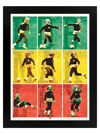 Black Wooden Framed Football - Bob Marley