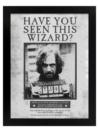 Black Wooden Framed Sirius Wanted - Harry Potter