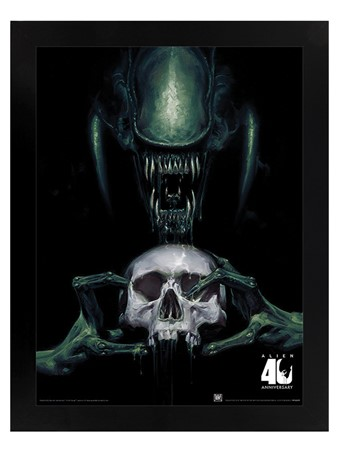 Black Wooden Framed Vision of Death 40th Anniversary - Alien