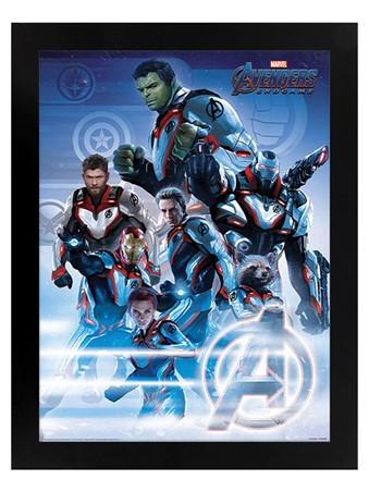 Black Wooden Framed Quantum Realm Suits - Avengers Endgame