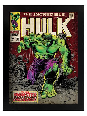Black Wooden Framed Monster Unleashed - Incredible Hulk