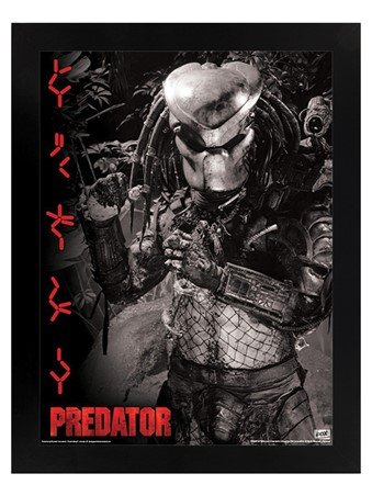 Black Wooden Framed Extraterrestrial Warrior - Predator
