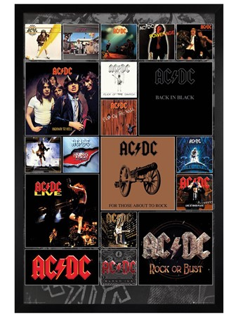 Black Wooden Framed Covers - AC/DC