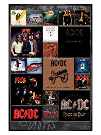 Gloss Black Framed Covers - AC/DC