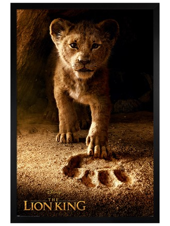 Black Wooden Framed Future King - The Lion King Movie