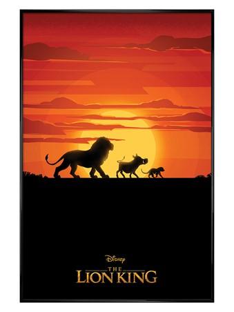 Gloss Black Framed Long Live The King - The Lion King Movie