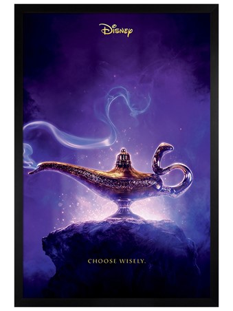 Black Wooden Framed Choose Wisely - Aladdin Movie