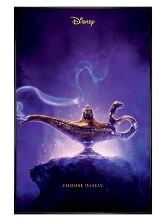 Gloss Black Framed Choose Wisely - Aladdin Movie