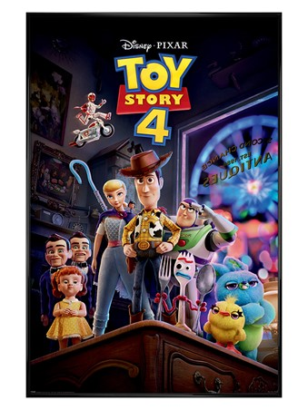 Gloss Black Framed Antique Shop Anarchy - Toy Story 4