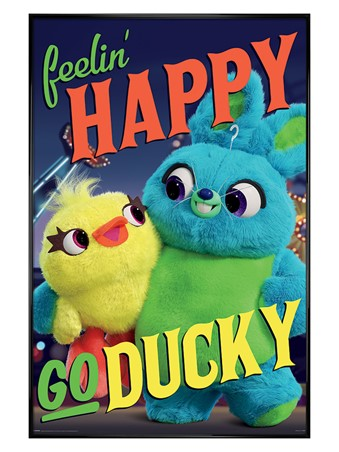 Gloss Black Framed Happy-Go-Ducky - Toy Story 4