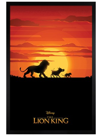 Black Wooden Framed Long Live The King - The Lion King Movie