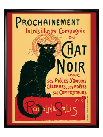 Gloss Black Framed Tournee du Chat Noir - Turn of the Black Cat