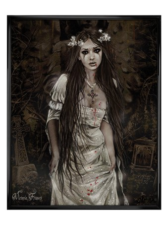 Gloss Black Framed Anatheme The Vampire - Victoria Frances