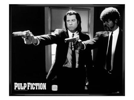 Gloss Black Framed Vincent and Jules - Pulp Fiction
