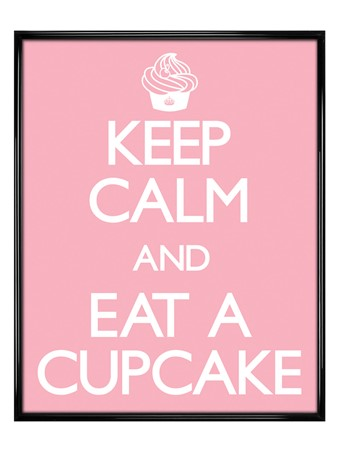 Gloss Black Framed Keep Calm and Eat a Cupcake - Carry On