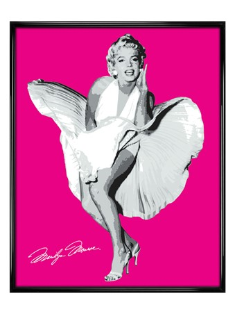 Gloss Black Framed Bright Pink Marilyn - Marilyn Monroe in The Seven Year Itch