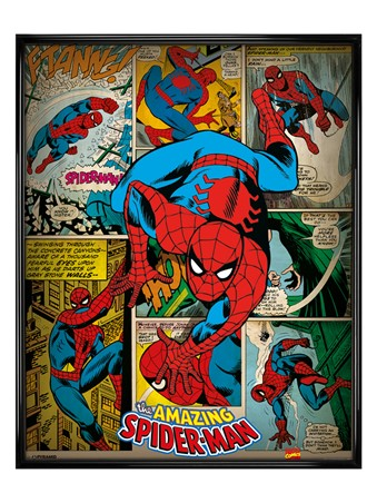 Gloss Black Framed Book Crusader - Spider-Man