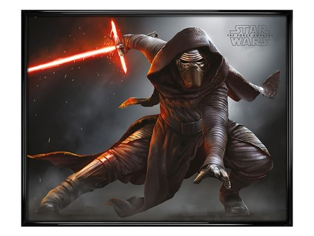 Gloss Black Framed Episode VII Kylo Ren Crouch - Star Wars