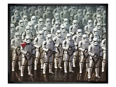 Gloss Black Framed Episode VII Stormtrooper Army - Star Wars