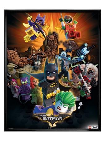 Gloss Black Framed Boom - Lego Batman