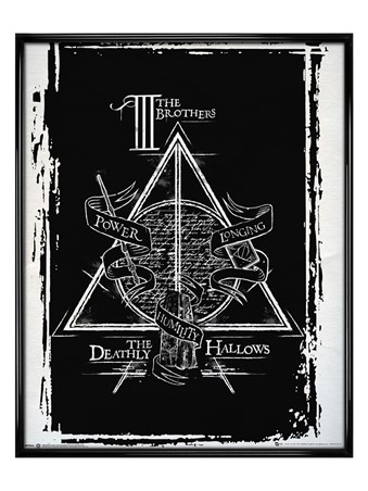 Gloss Black Framed Deathly Hallows - Harry Potter