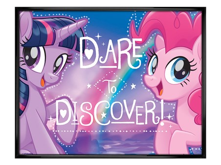 Gloss Black Framed Dare to Discover - My Little Pony Movie