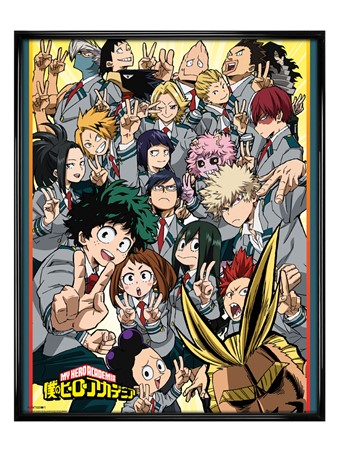 Gloss Black Framed School Compilation - My Hero Academia