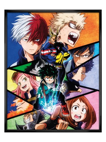 Gloss Black Framed Group - My Hero Academia