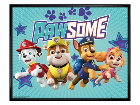 Gloss Black Framed Pawsome - Paw Patrol