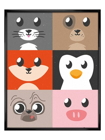 Gloss Black Framed Cutest Critters Compilation - Animal
