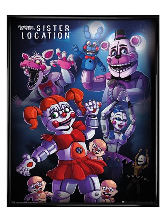 Gloss Black Framed Sister Location Group - Five Nights at Freddy's