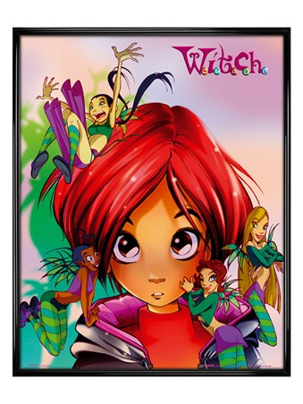 Gloss Black Framed Will and Friends - W.I.T.C.H