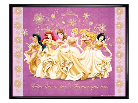 Gloss Black Framed Shine Like a Star - Disney Princess