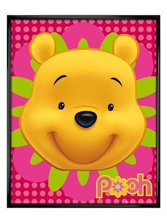 Gloss Black Framed Happy Hunny Bear - Winnie the Pooh
