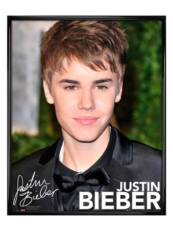 Gloss Black Framed Canadian Superstar - Justin Bieber