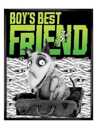 Gloss Black Framed Boy's Best Friend - Tim Burton's Frankenweenie