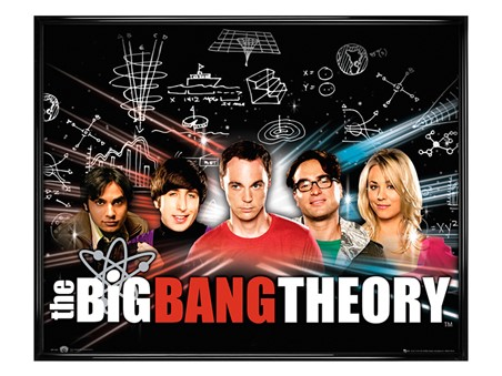 Gloss Black Framed Raj, Howard, Sheldon, Leonard & Penny - The Big Bang Theory