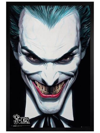 Black Wooden Framed DC Comics Joker - Alex Ross