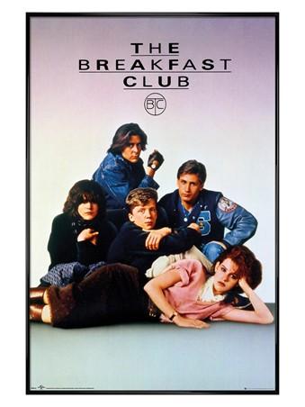 Gloss Black Framed Shermer High School - The Breakfast Club