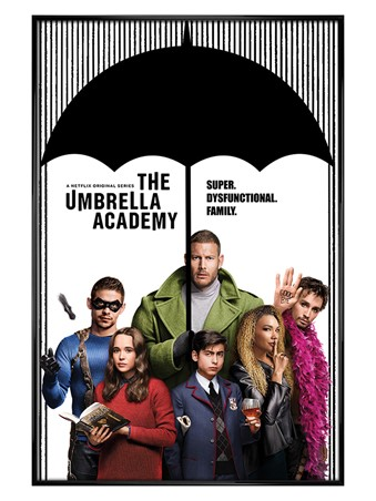 Gloss Black Framed Super Dysfunctional Family - The Umbrella Academy