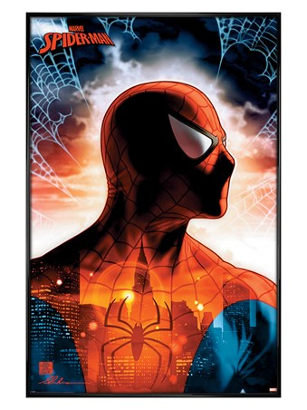 Gloss Black Framed Protector Of The City - Spider-Man