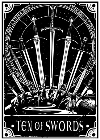 Ten Of Swords - Deadly Tarot