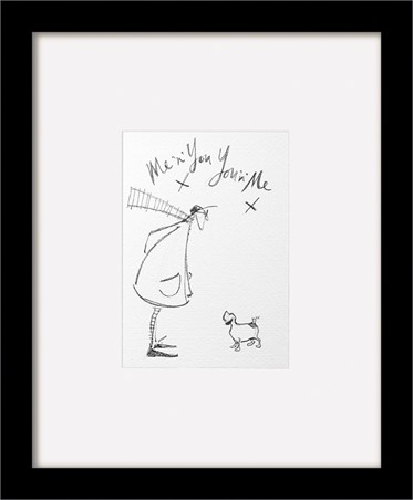 Wooden Framed Me and You sketch - Sam Toft