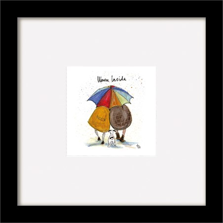 Wooden Framed Poster Warm Inside - Sam Toft