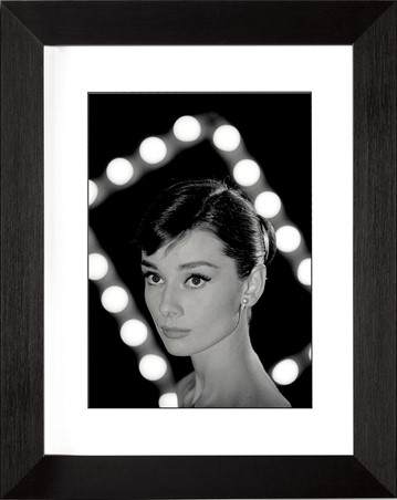 Black Wooden Framed Audrey Hepburn - Portrait - Time Life
