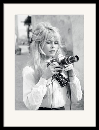 Black Wooden Framed Brigitte Bardot - Camera - Time Life